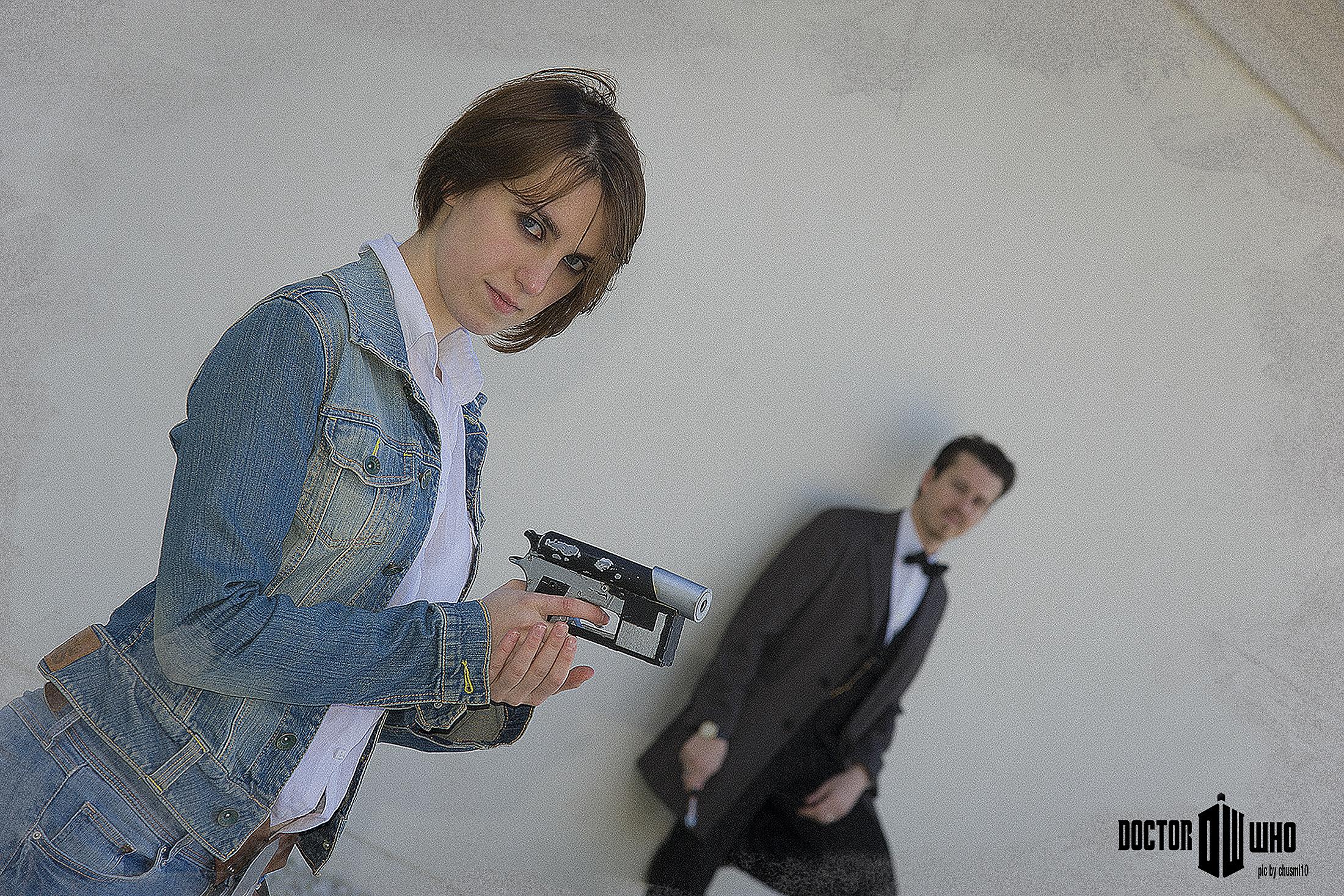 Marta Berengué y un servidor, posando para Chusmi 10.
