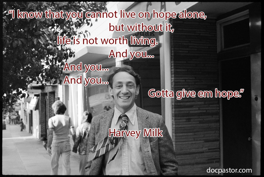 Harvey Milk In front of his Castro Street Camera Store 1977